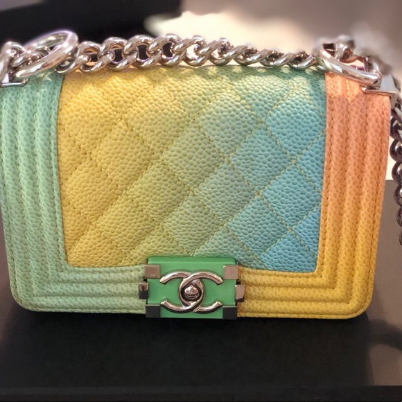10db192b44c5 CHANEL Handbags - Chanel Caviar Quilted Small Cuba Rainbow Boy Flap